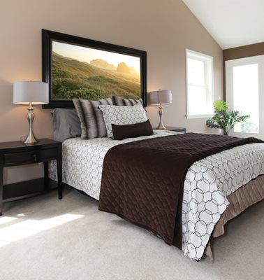 Organizing tips for the master bedroom to allow you to vacation at home all year long!